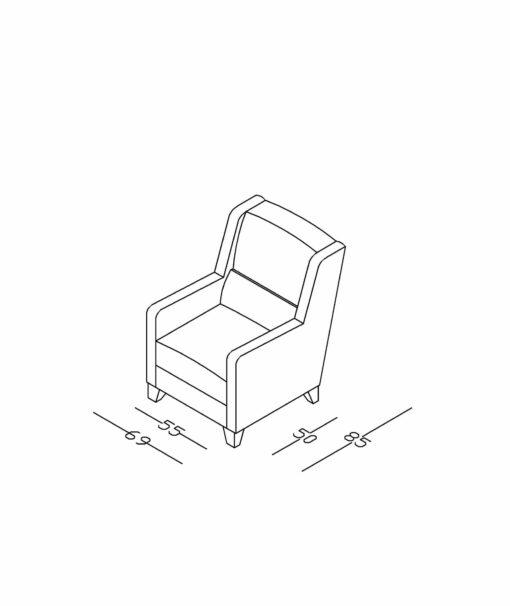 Fotelja D3
