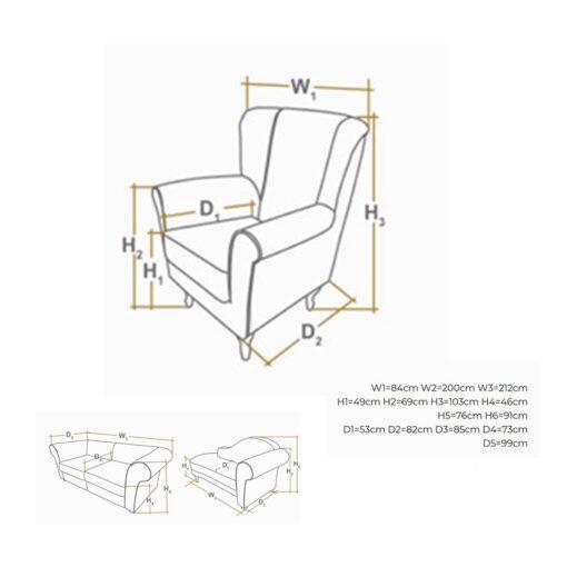 sash fotelja dimenzije