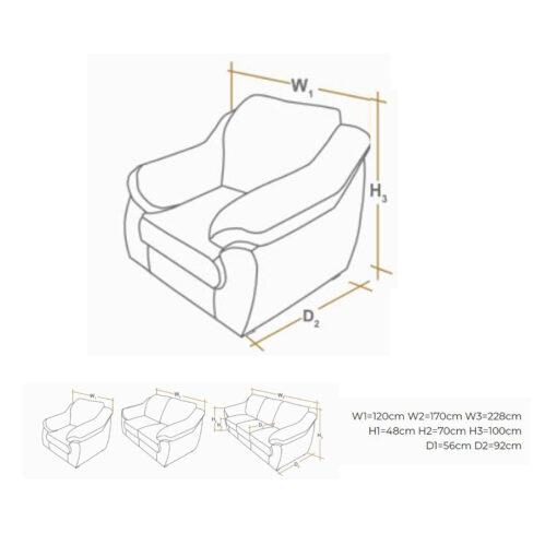 nikol fotelja dimenzije