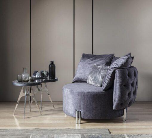 fotelja marsala siva